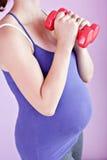 aktywny kobieta w ciąży Fotografia Royalty Free