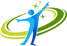 aktywny logo Fotografia Royalty Free