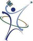 Aktywny ludzki edukacja logo Fotografia Stock