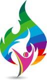 Aktywny płomienia logo ilustracji