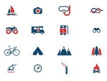 Aktywny rekreacyjny ikona set Fotografia Stock