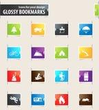 Aktywny rekreacyjny ikona set Zdjęcie Stock