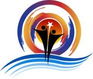 Aktywny słońce logo Fotografia Royalty Free