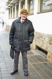 Aktywny senior w ulicie Fotografia Stock