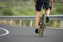 Aktywny senior z bicyklem Zdjęcia Stock