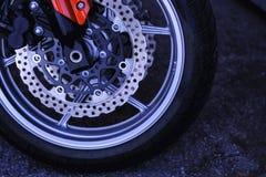 Aktywny sport, drogi motocykl, koło obrazy stock