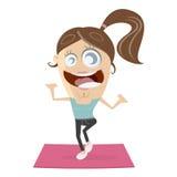 Aktywny sprawności fizycznej dziewczyny trening royalty ilustracja