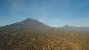 Aktywny wulkan Gunung Agung w Bali, Indonezja Obrazy Stock