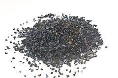 Aktywowany węgiel dla uzdatnianie wody tekstury obraz stock