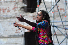 Akua Naru singing live at Electric Castle Festival Royalty Free Stock Image