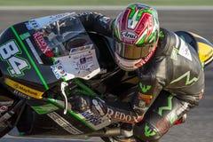 Akub KORNFEIL Moto3 Grand Prix Movistar Aragà ³ ν MotoGP Στοκ Εικόνες