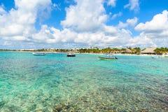 Akumal - bah?a del para?so con la playa blanca hermosa, cerca de Cancun, Yucat?n, M?xico foto de archivo libre de regalías
