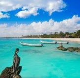 Akumal bay beach in Riviera Maya Stock Images