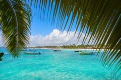 Akumal bay beach in Riviera Maya Stock Image
