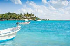 Akumal Caribbean beach in Riviera Maya Royalty Free Stock Photos