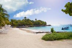 Akumal bay beach in Riviera Maya Royalty Free Stock Images