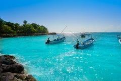Akumal bay beach in Riviera Maya. Akumal bay Caribbean beach in Riviera Maya of Mayan Mexico stock images