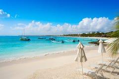 Akumal bay beach in Riviera Maya Stock Photos