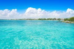 Akumal bay beach in Riviera Maya Royalty Free Stock Image