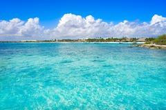 Akumal bay beach in Riviera Maya Royalty Free Stock Photo