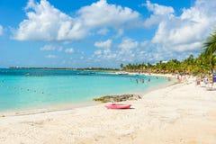 Akumal beach - paradise bay  Beach in Quintana Roo, Mexico - caribbean coast Royalty Free Stock Photos