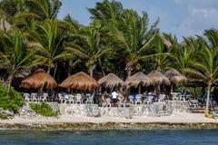 Akumal beach in Quintana Roo, Yucatan, Mexico Royalty Free Stock Image