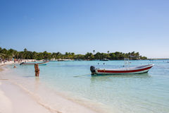 Akumal Caribbean beach - Mexico Mayan Riviera. Akumal is a famous Caribbean beach with a nature reserve of turtle in Mexico the Yucatan Mayan Riviera Stock Image