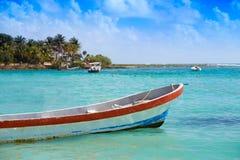 Akumal Caribbean beach in Riviera Maya Stock Photos
