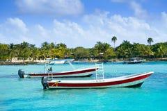 Akumal Caribbean beach in Riviera Maya Stock Images