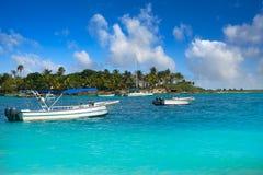 Akumal Caribbean beach in Riviera Maya Stock Photo