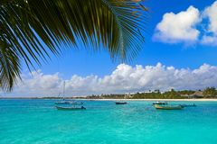 Akumal bay beach in Riviera Maya Stock Photography