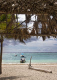 Akumal - praia e barcos Imagem de Stock Royalty Free