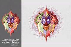 Akunamatata apahuvud royaltyfri illustrationer