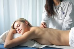 akupunktur Royaltyfri Bild