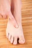 Akupunktur großes hetzendes TAICHONG LIV-3 Lizenzfreies Stockbild
