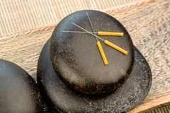 Akupunktur igły Zdjęcie Royalty Free