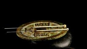 Akupunktur igły na antykwarskiej chińczyk monecie zbiory