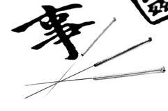 Akupunktur igły Obrazy Stock