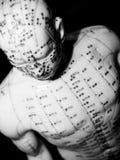 akupunkturbegrepp Arkivfoton