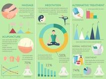 Akupunktury Infographics set ilustracji