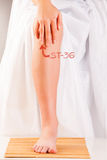 Akupunktury ST36 noga Trzy mily ZUSANLI Obrazy Stock