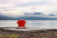Akureyri boat mooring Royalty Free Stock Image