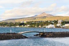 Akureyri Footbridge Royalty Free Stock Photos