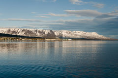 Akureyri - Iceland. Akureyri City in North Iceland Stock Photos