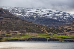 Akureyri Iceland coastal view Royalty Free Stock Photography