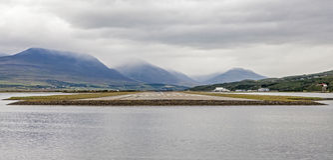 Akureyri Iceland panoramic landscape Royalty Free Stock Photography