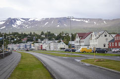Akureyri, Iceland. View of Akureyri a city located in northern part of Iceland Stock Photos