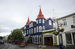 Akureyri, Iceland. View of Akureyri a city located in northern part of Iceland Royalty Free Stock Photography