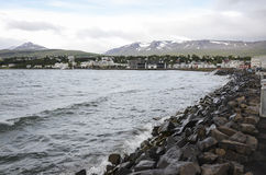 Akureyri Island Arkivbild