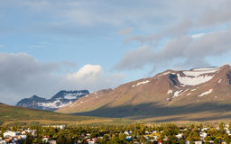 Akureyri Skyline Royalty Free Stock Photos